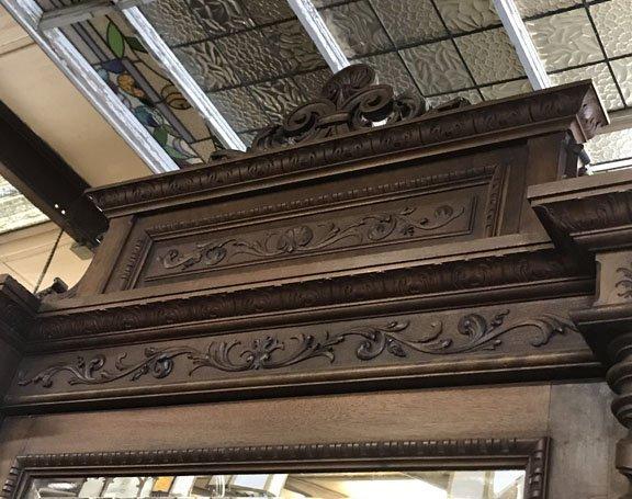 Italian Triple Door Carved Armoire - 4