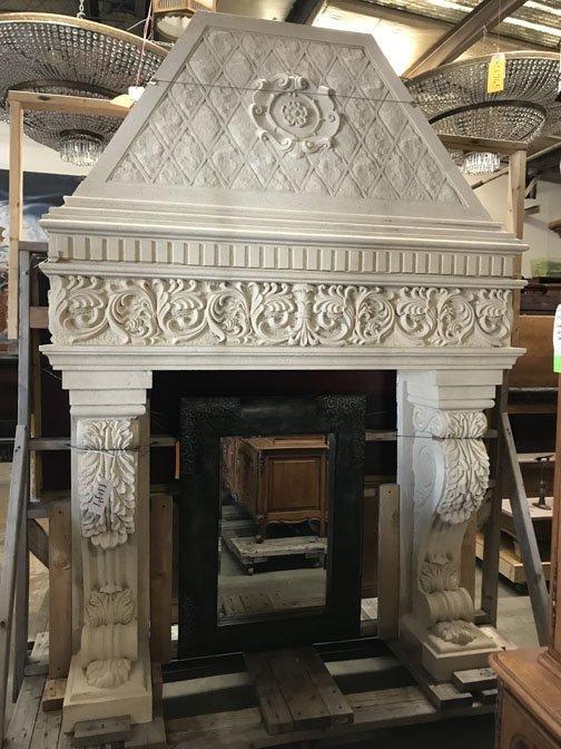 Gothic Style Stone Mantel