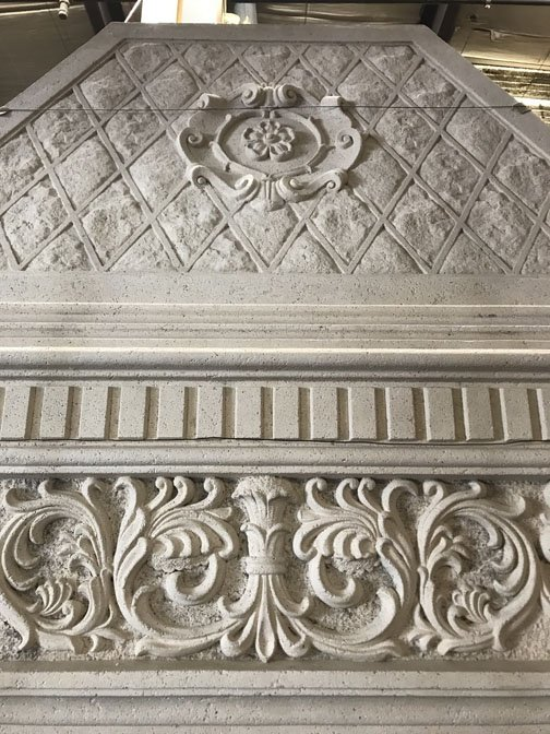 Gothic Style Stone Mantel - 3