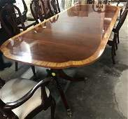 Baker Double Pedestal Dining Table