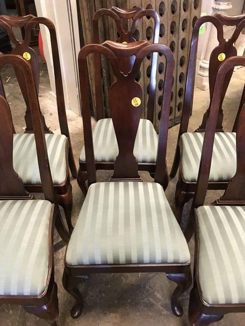 Set of 8 Mahogany Dining Chairs - 3