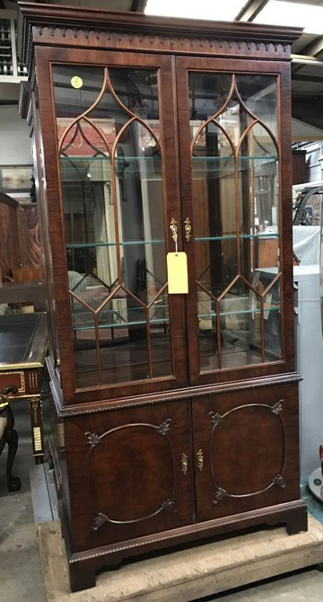 Double Door Glass Front China Cabinet