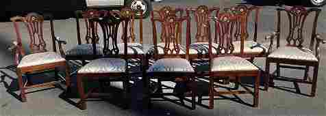 Set of 10 Baker Dining Chairs