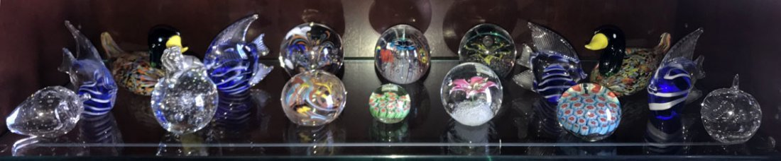 Lot of Paperweights