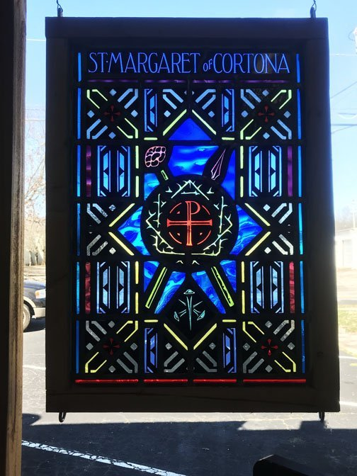 Religious Themed Stained Glass Window