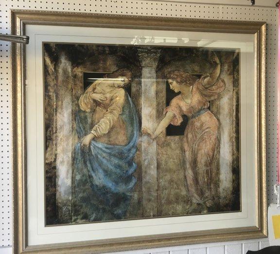Framed Print of Greek Maidens