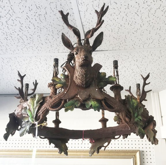 Deer Head Chandelier - 2