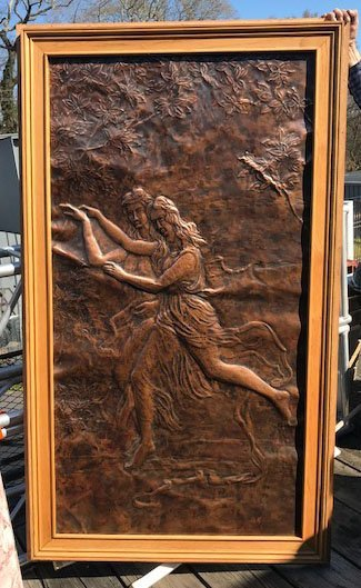 Copper Relief Figural Panel