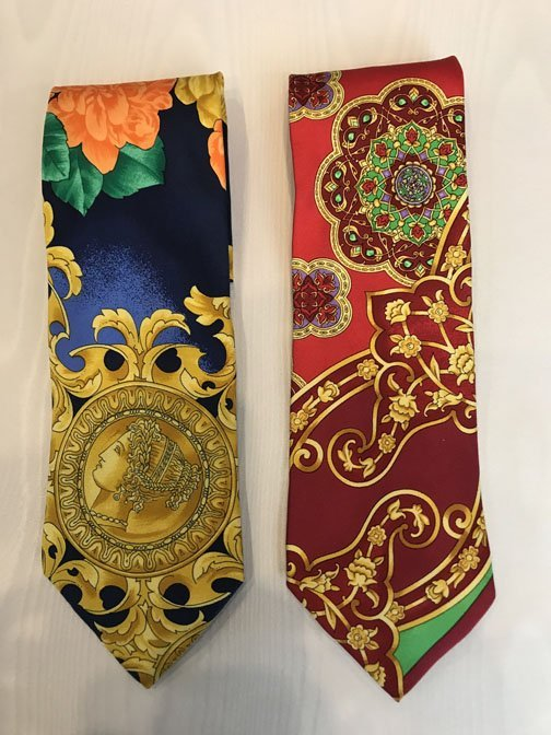 Lot of 2 Versace Brand Neckties - 2