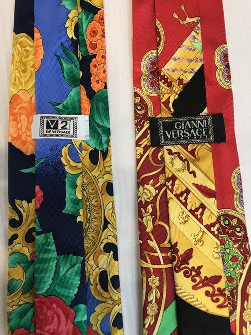 Lot of 2 Versace Brand Neckties - 3