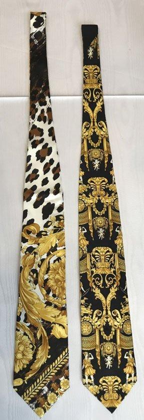 Lot of 2 Versace Brand Neckties