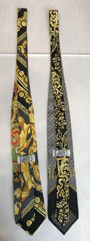 Lot of 2 Versace Brand Neckties - 4