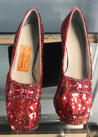 """Pair of """"Wizard of Oz"""" Ruby Slippers"""