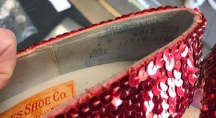 """Pair of """"Wizard of Oz"""" Ruby Slippers - 5"""