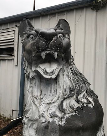 Monumental Black Marble Bear - 3