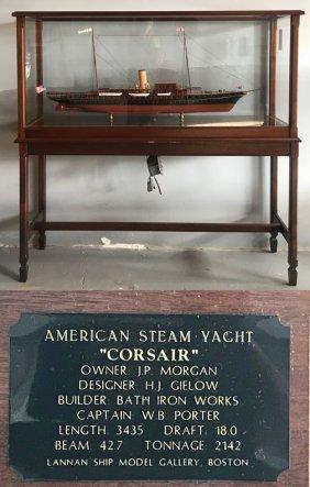 "Model of American Steam Yacht ""Corsair"""