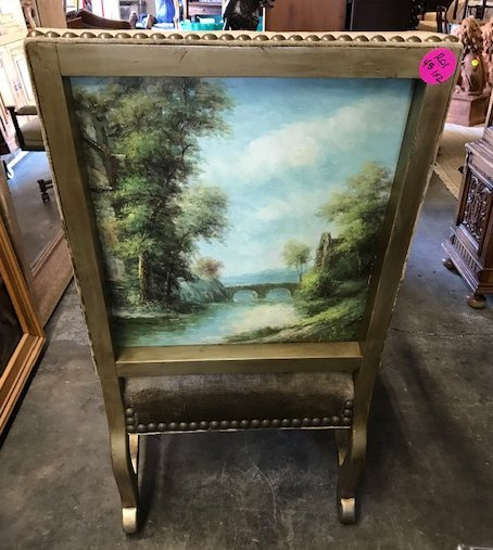 Pair of Painted Back Arm Chairs - 3