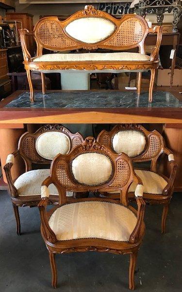 Four Piece Louis XV Parlor Set