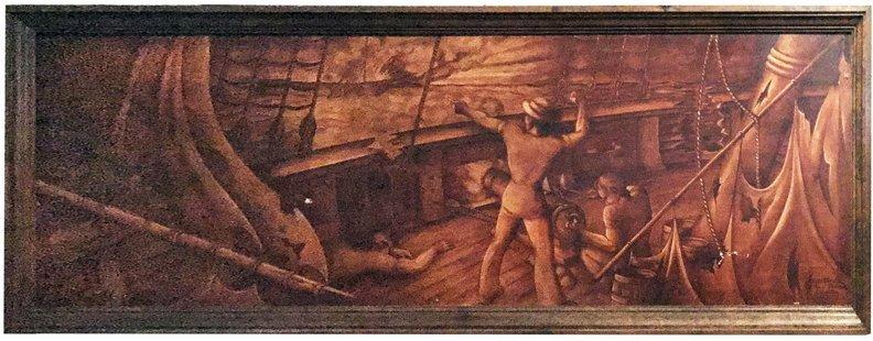 Monumental Oil On Canvas