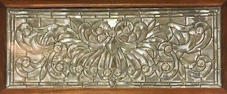 American 1890s Beveled and Leaded Transom Window