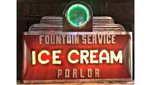 Original Ice cream sign signed Phelps
