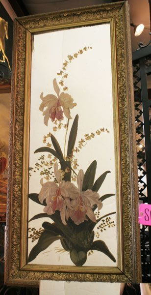 7: Pr of English Victorian painted and framed mirrors