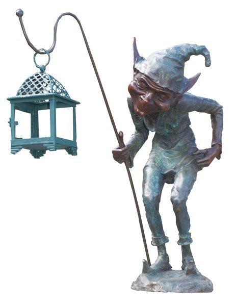 9: English bronze statue -garden gnome