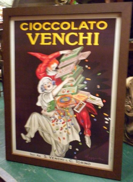 "13: Framed Italian poster ""Cioccolato Venchi"""
