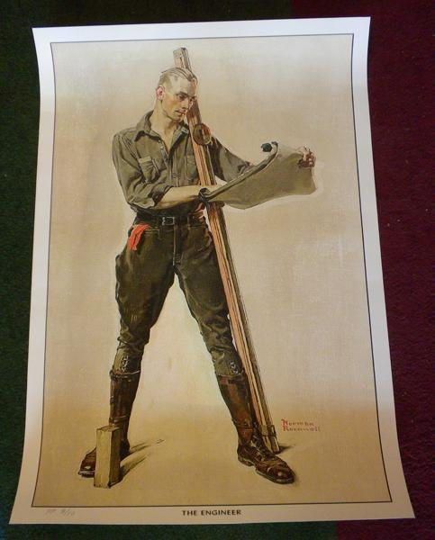 """14: ltd edt Norman Rockwell print """"The Engineer"""""""
