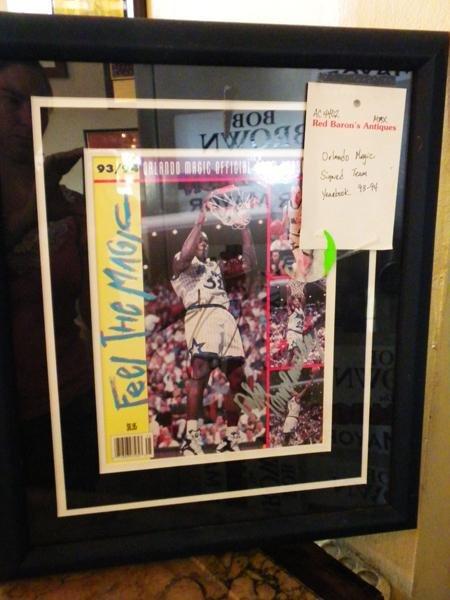 15: Framed Orlando Magic 1993-1994 Team of the Year
