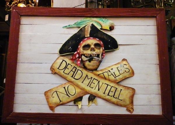 21: Painted tin 'Deadman Tell no Tales'