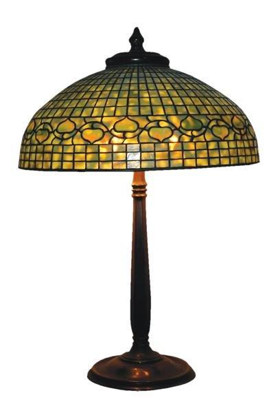 """32: 20"""" Tiffany Studios  acorn table lamp"""