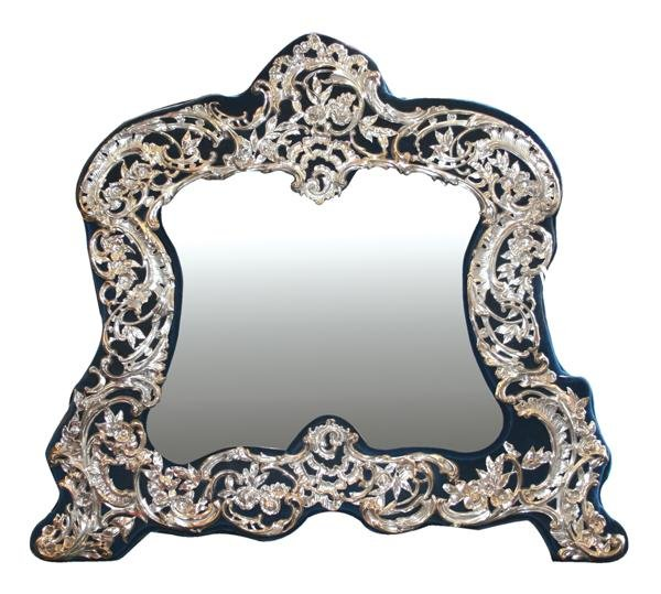 6: W.C. London 1903 Sterling silver mirror
