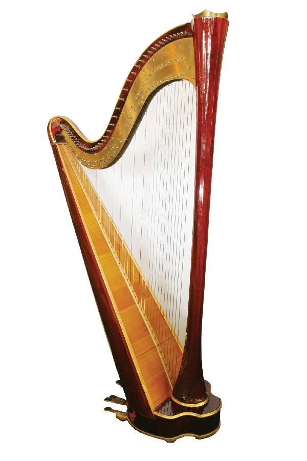 18: Russian harp in mahogany & brass