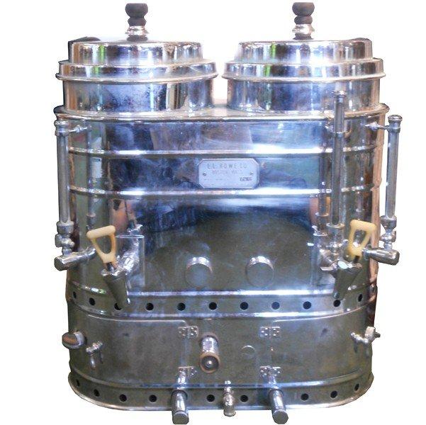 5:  Art deco dual table top coffee urn