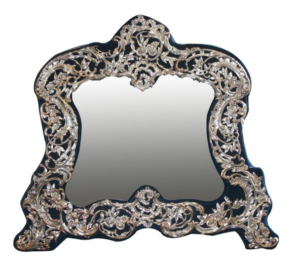 16: Sterling highly detailed table top mirror wit