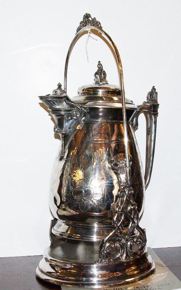 20: Lemonade pitcher on stand, 1854 - J.A. Stimso