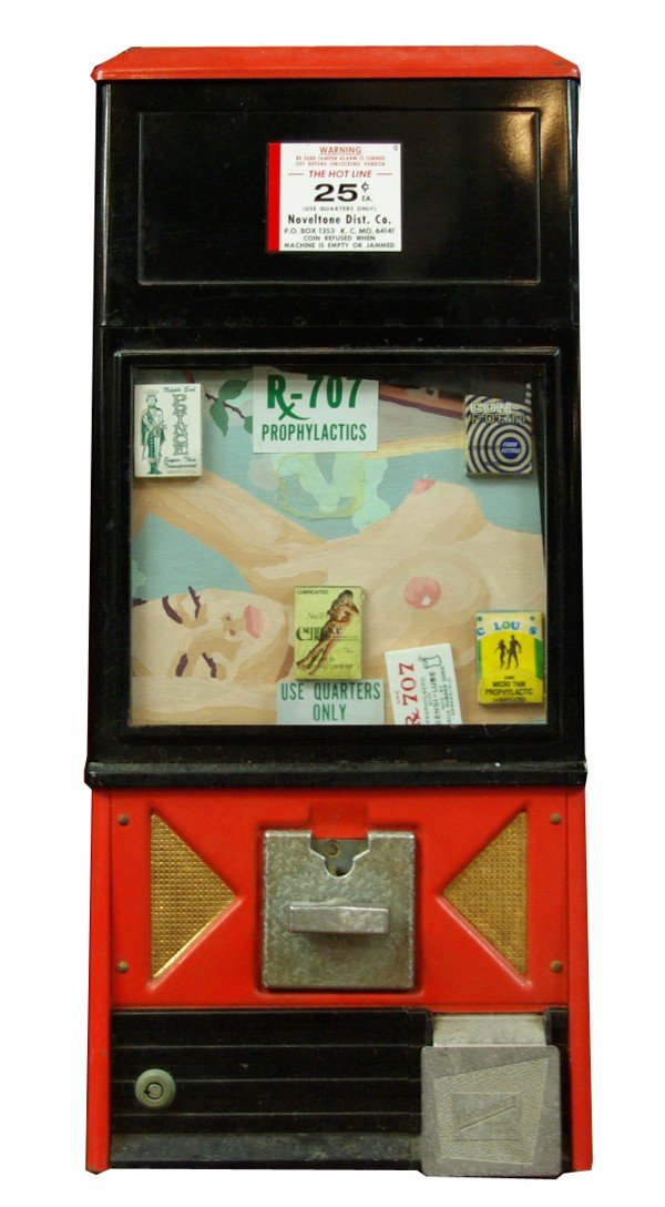 57: Original 1940's vending (condom) machine. 2.1