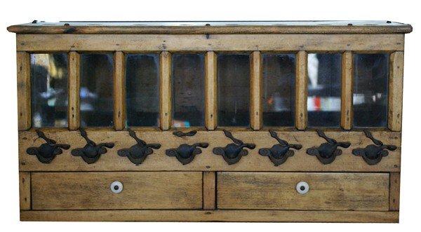 59: Shot cabinet with original hardware