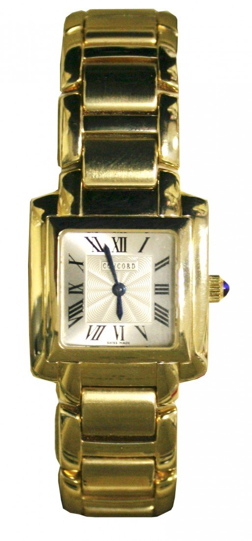 8: LADIES CONCORD WATCH IN 18KT YELLOW GOLD