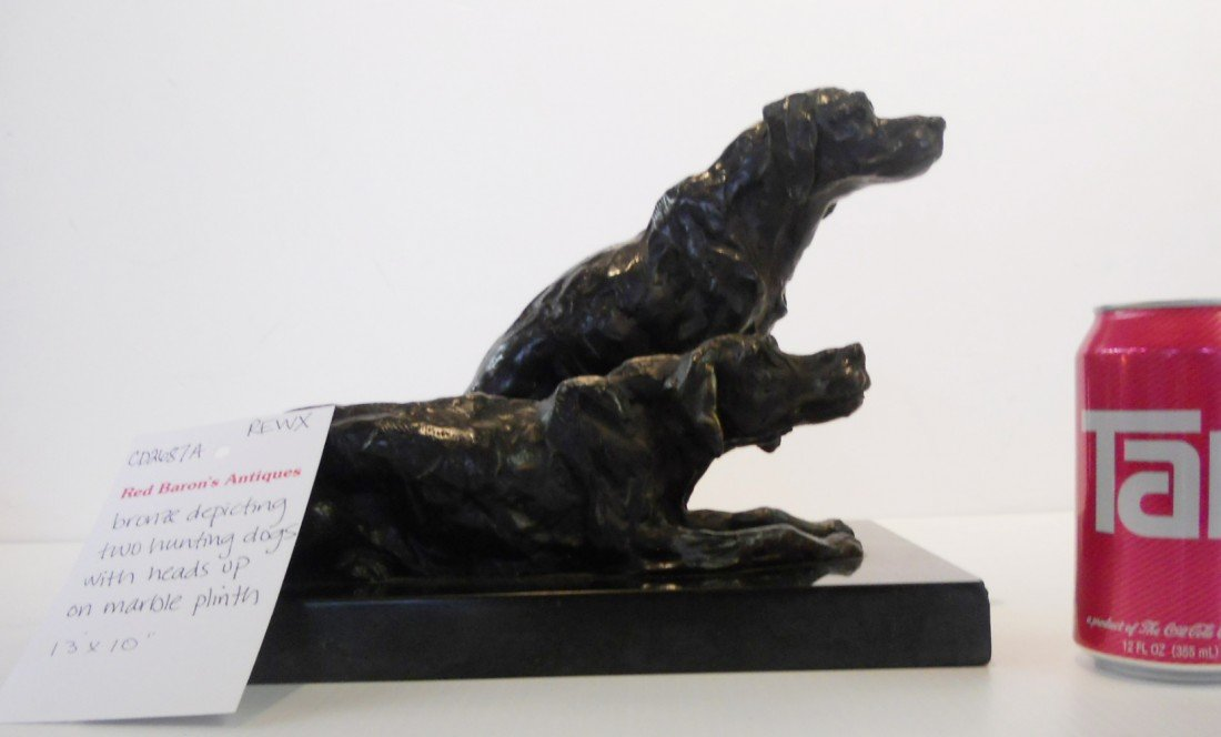 11: BRONZE DEPICTING TWO HUNTING DOGS