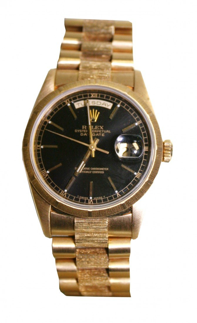 16: MENS PRESIDENTIAL ROLEX IN 18KT YELLOW GOLD