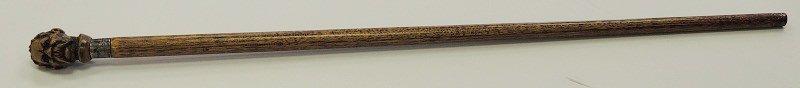 2: Hand Carved Hardwood Walking Stick