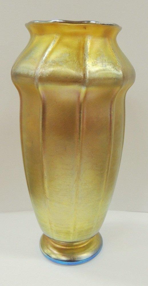 9: Signed Gold Aurene Favrile Tiffany Vase
