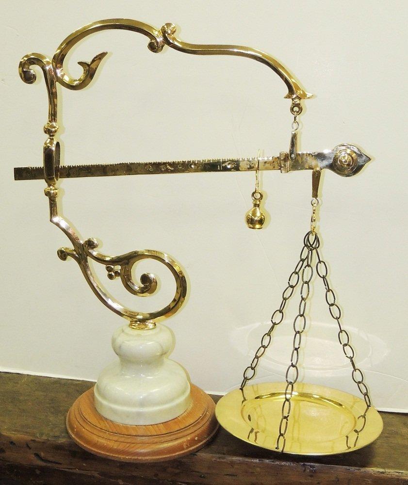 10: Original Bronze & Marble Drug Store Scale