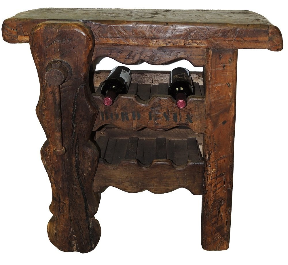 11: Carved French Oak Wine Corking Table