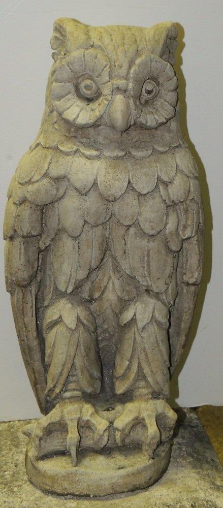 15: Cast Stone Entrance Owl on Branch