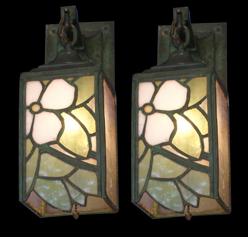 19: Pair of Art Nouveau Sconces