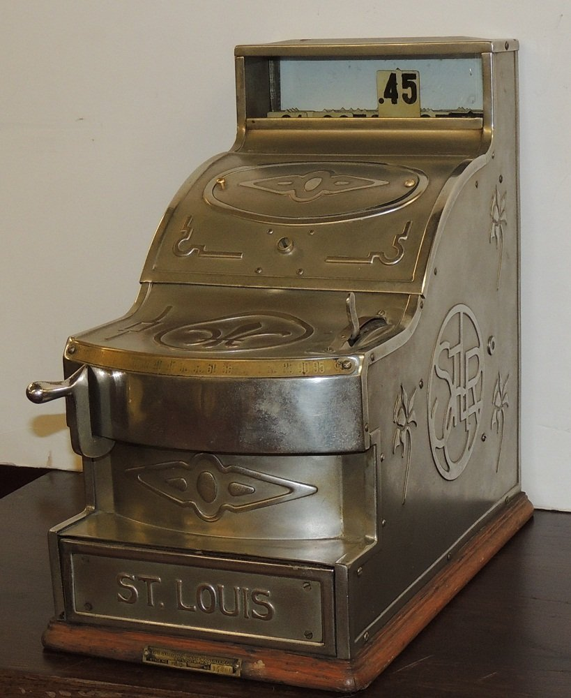 26: Original Restored St Louis Cash Register