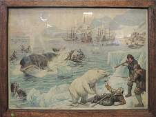 69 Antique Hand Colored Engraved Picture